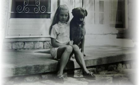 small child with dog
